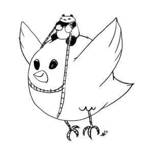 Bird rider panda