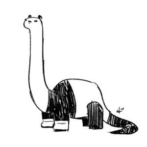 Dinosaur panda