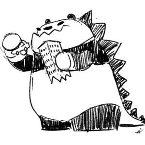 Godzilla panda