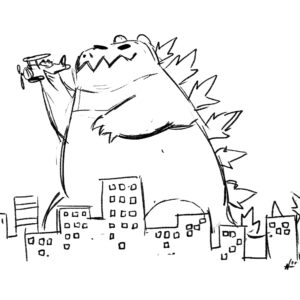 20200413_ScribbleTime_Monsters_01_Godzilla