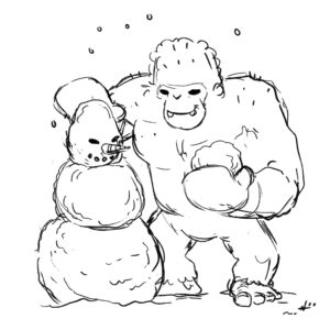 20200413_ScribbleTime_Monsters_05_Yeti