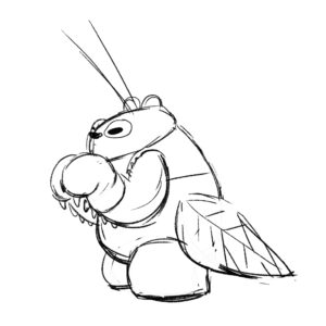 20200420_ScribbleTime_Bugs_03_MantisPanda