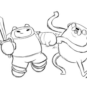 20200512_ScribbleTime_AdventureTime_01_Jake and Finn