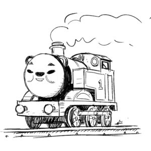 20200518_ScribbleTime_ThomasTheTankEngine_01_Thomas